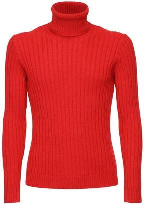 Gucci Logo Alpaca & Wool Turtleneck Sweater