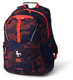 Lands' End ClassMate Medium Backpack - Print-Rich Persimmon Camo