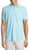 Orlebar Brown Short-Sleeve Pique Polo Shirt, Turquoise