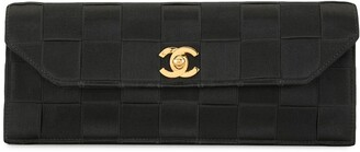 Chanel Pre Owned Chocolate Bar interwoven clutch