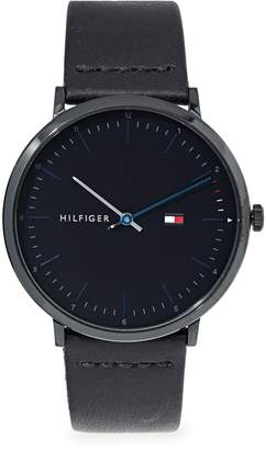 Tommy Hilfiger Stainless Steel Case Leather Strap Analog Watch