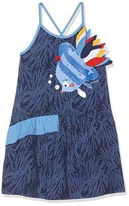 Tuc Tuc Girls Fish Printed Jersey Dress ARRECIFE DE Coral