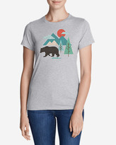 Eddie Bauer Women's Graphic T-Shirt - Geo Bear