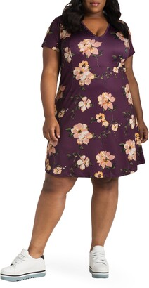 Poetic Justice Sapphire Floral Print Dress