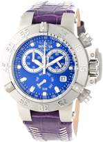 Invicta Women's Subaqua/Noma III Chronograph Dial Purple Genuine Leather