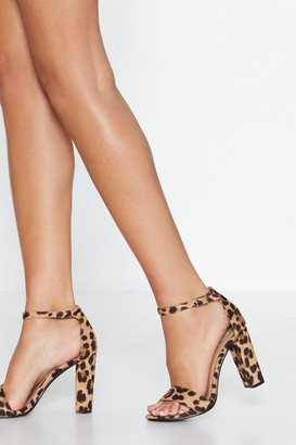 Nasty Gal Womens Here Kitty Leopard Heel - Brown