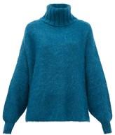 JoosTricot Roll-neck Mohair-blend Sweater - Womens - Dark Green