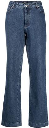 A.P.C. High-Waisted Wide-Leg Jeans