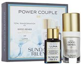 Sunday Riley Power Couple Total Transformation Kit with Good Genes and Luna Oil by