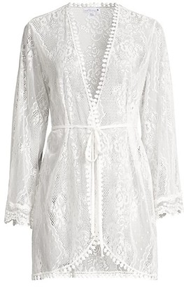 In Bloom Becca Lace Satin Robe