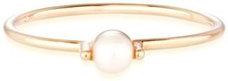 Otiumberg Pearl Bamboo Ring in Gold