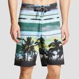 Ocean Current Men's Palm Stripes Board Shorts Blue