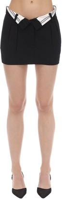Alexander Wang Foldover Wool Blend Mini Skirt