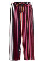 Quiz Black And Orange Stripe Culotte Trousers