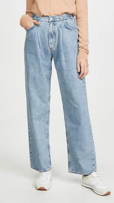 A Gold E AGOLDE Mid Rise Pleated Baggy Jeans