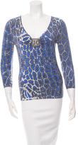 Blumarine Embellished Knit Top