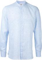 Kent & Curwen band collar shirt - men - Linen/Flax - S