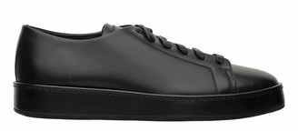 Santoni Club Black Sneakers