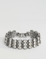 Asos Crystal Curb Chain Bracelet