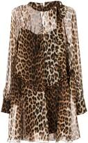 No.21 leopard print shirt dress