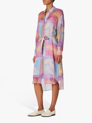 Paul Smith Long Sleeve Print Shirt Dress, Multi