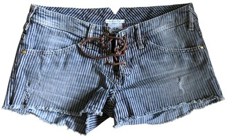 Cycle Blue Cotton - elasthane Shorts for Women