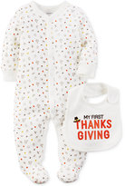 Carter's 2-Pc. My First Thanksgiving Bib & Footed Coverall Set, Baby Boys or Baby Girls (0-24 months)