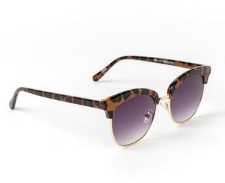 francesca's Lee Leopard Print Sunglasses - Leopard