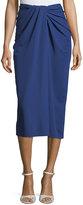 Rosetta Getty Twist-Front Jersey Midi Skirt