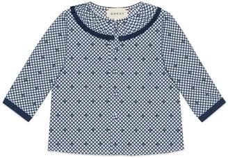 Gucci Baby Square G print cotton shirt