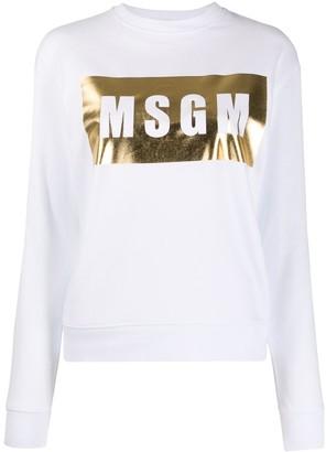 MSGM Metallic Logo Jumper