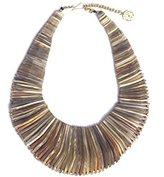 Soko Women's x LS Stacked Full Horn Necklace of Length 15-20cm