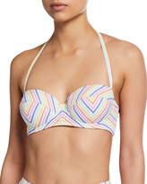 Kate Spade Striped Halter Underwire Bikini Top