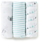 Little Me Baby Boys Safari Print 3-Pack Swaddle Blankets