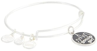 Alex and Ani Color Infusion Gossip Girl Bangle Bracelet (Shiny Silver) Bracelet