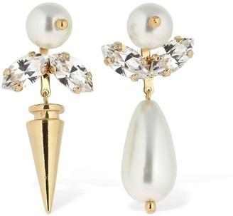 Simone Rocha Small Embellished Asymmetrical Earrings