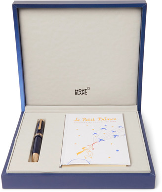 Montblanc Meisterstuck Le Petit Prince Engraved Gold-Tone And Resin Fountain Pen And Book Set