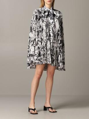Balenciaga Pleated Dress With Magazine Print