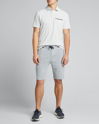 Brunello Cucinelli Men's Cotton Pique Tipped-Pocket Polo Shirt