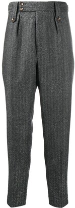 Pt01 Pleat-Front Herringbone Trousers