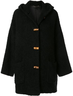 Gucci Pre Owned Bamboo Line textured hooded coat