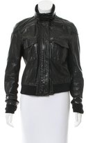Theory Long Sleeve Leather Jacket