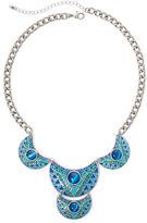 Arizona Blue Bead Chain Statement Necklace