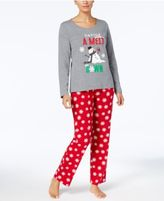 Family Pajamas Women's Snowflake Meltdown Pajama Set, Created for Macy's