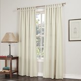 No. 918 Trevor Semi-Sheer Tab Top Curtain Panel, 40 x 84 Inch, Ecru Beige