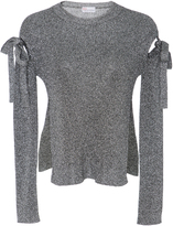 RED Valentino Metallic Cutout Knitted Sweater