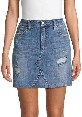 Joe's Jeans Distressed Denim Mini Skirt