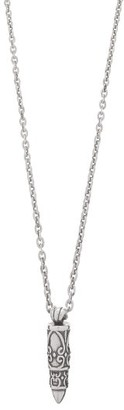 Emanuele Bicocchi Sterling-silver Curb-chain Charm Necklace - Silver