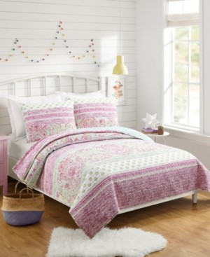 Jessica Simpson Palm Beach Paisley Full/Queen 3-Piece Quilt Set Bedding