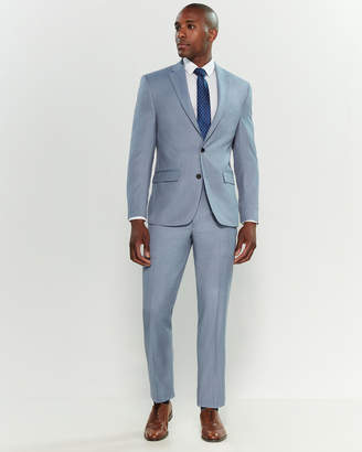 Lauren Ralph Lauren Two-Piece Light Blue Sharkskin Suit